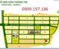Bán đất dự án Sở Văn Hóa thông tin quận 9, dtích 90m2 giá 26tr/m2 LH: 0909 197 186