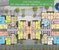 0985354882 ! Chính chủ bán gấp CHCC Five Star Kim Giang,DT:73,89m2,giá 24tr/m2 căn 01-G2. GẤP !!