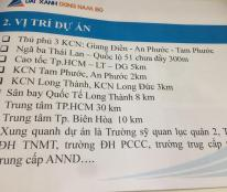 Đất nền hot nhất An Viễn, liền kề KCN Giang Điền, sân bay Long Thành