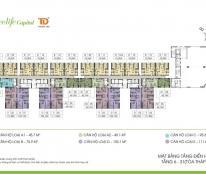 CC bán Ecolife Capitol – căn 10 (75.9m2/2PN/2WC) tòa A1, giá 25tr/m2. Lh 0989.218.798