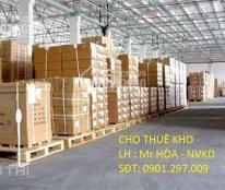 Kho xưởng chính chủ giá rẻ, vị trí giao thông thuận lợi cần cho thuê gấp tại BD. Mr. Hòa 0901297009