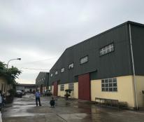 Cho thuê 3000m2 nhà xưởng đẹp, cực gần Hà Nội chỉ 50,000đ/m2/tháng