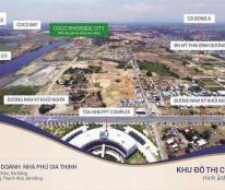 Chỉ 3,5tr/m2 sỡ hữu  đất biệt thự nghĩ dưỡng ven sông - liền kề FPT – đối diện CoCo Bay