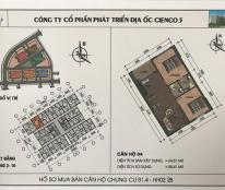 Bán cắt lỗ căn 64m2 2 ngủ chung cư HH02 Thanh Hà Cienco 5.