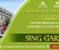 Nhà phố thương mại Sing Garden, vị trí hot nhất Vsip, Từ Sơn, Bắc Ninh. Giá chỉ từ 11 triệu/m2