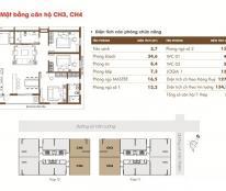 Cần bán căn hộ tháp 2, căn CH3=127.8m2 chung cư Time Tower (3PN+2wc), giá: 31.2tr/m2
