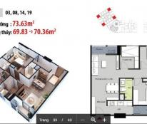 Bán căn góc 3PN, tòa CT1A chung cư Hateco Xuân Phương- FULL đồ, 1,4 tỷ/căn 73m2