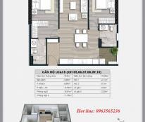 Cần bán căn hộ 75.9m2 chung cư Ecolife Capitol, 2pn, full nội thất + phí bảo trì, giá bán: 2,55 tỷ