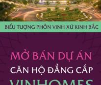 bán căn hộ chính chủ Vinhomes bắc ninh căn góc đẹp, view ngã 6.giá hợp lý