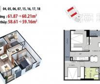 Chung cư Mỹ Đình, 2 phòng ngủ -  937tr, tặng kèm 3 ĐIỀU HÒA – lh: 0989 846 691