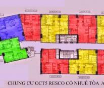 Bán căn A09, 92,9m2 tại OCT5 Resco, 3PN, 2WC, giá 20tr/m2, đầy đủ nội thất, LH: 0985309021