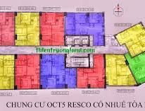 Bán căn B02 63 m2 dự án OCT5 Resco. Đầy đủ nội thất. Giá 23tr/m2. LH 0985309021