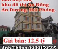 Bán biệt thự, khu đô thị An Đồng, An Dương, Hải Phòng, 12,5 tỷ, 0989159595