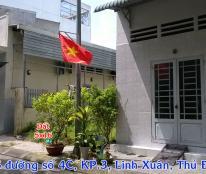 Đất mặt tiền 5x16m, số 46 đường số 4C Khu dân cư Êm Đềm, Linh Xuân, Thủ Đức. Giá 2,6 tỷ