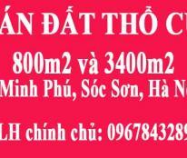 Cần bán 3 mảnh đất tại Minh Phú, Sóc Sơn, Hà Nội. Liên hệ: 0967843289