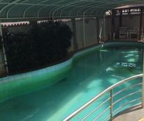 Bán Biệt Thự Trần Hưng Đạo 2 Mặt Tiền Vip có Hồ Bơi,DT:12.2x27.3=368M,Hẻm 8M,Giá:13Ty