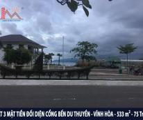 Bán gấp đất 3 MẶT TIỀN đối diện Bến DU THUYỀN - Vĩnh Hòa - Nha Trang