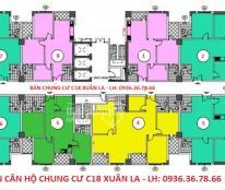 Bán chung cư C18 Xuân La, 92.78m2 giá chỉ 26 tr/m2, view hồ Tây. LH: 0936.36.78.66