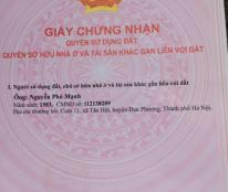 Bán đất mặt đường làng sau nhà văn hóa cụm 11 Tân Lập , Đan Phượng , Hà Nội