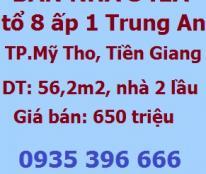 Bán nhà riêng 341A tổ 8 ấp 1 xã Trung An, TP.Mỹ Tho, Tiền Giang, 650tr, 0935396666