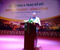 Bán đất nền dự án tại Dự án Kosy - Sông Công, Sông Công, Thái Nguyên diện tích 100m2 giá 420 Triệu