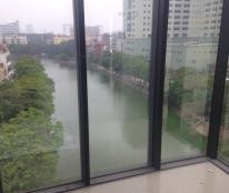 Cho thuê văn phòng mặt phố Chùa Láng gần ĐH Ngoại Thương, Ngoại Giao, view hồ 3 mặt thoáng