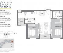 Bán căn hộ chung cư 2 ngủ Trung Hoà Nhân Chính, hướng đông nam, view hồ giá rẻ .