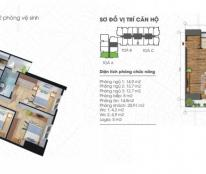 Bán gấp căn hộ 02 tòa A chung cư Ecolife Tây Hồ, 106.9m2, 3PN, giá 25.7tr/m2, LH 0962 859 938