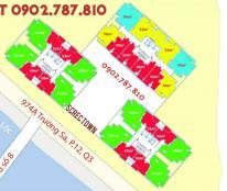 Cho thuê chung cư Screc Tower, Quận 3 DT: 70 - 76- 81 - 90 - 104 m2, giá từ 12tr/th LH 0977321887