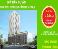 Chung cư 317 Trường Chinh chính thức mở bán, giá 34tr/m2( full Nt+VAT), Lh: 0983901866