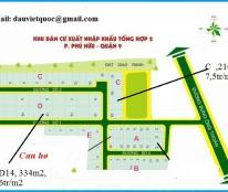 Cần tiền bán nhanh 2 nền A12, B9, dự án Xuất Nhập Khẩu, Phú Hữu, Q9