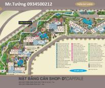 Mở bán các căn Shop thương mại của dự án Vinhomes D.Capitale