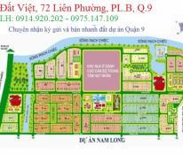 Bán đất nền dự án Nam Long, Quận 9, lô D58 mặt tiền sông, LH: 0914920202