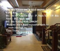 Cho thuê nhà 4 tầng, 4 phòng sàn gỗ đẹp tại khu Hub, Tp.Bắc Nin