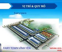 Mở bán khu phố mới Fairry Town đường Phạm Văn Đồng từ 14tr/m2 cách UBND Vĩnh Yên 100m, 0972397793