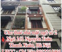 Cho thuê nhà mặt ngõ số 2 , Ngõ 161 Nguyễn Tuân, Thanh Xuân, Hà Nội