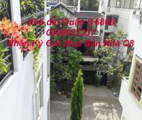 Bán nhà quận 8 khu Cao Lỗ ĐỒng Diều 2 mặt tiền trước sau Dt 6x20m trệt, 2 L , Sân Thượng.