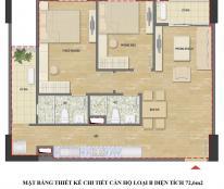 Chính chủ căn 72,6m2 tầng 12 Chung cư HUD3 Nguyễn Đức Cảnh
