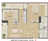 Bán căn 70,14m2 tầng 1410 chung cư Hud3 Nguyễn Đức Cảnh