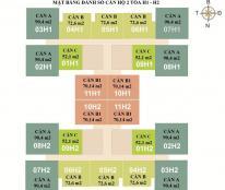 Bán căn hộ 1204 (72,6m2) Chung cư HUD3 Nguyễn Đức Cảnh