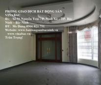 Cho thuê nhà 5 tầng không đồ nội thất tại quốc lộ 1A, trung tâm TP.Bắc Ninh