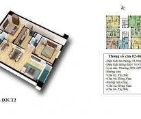 Chính chủ cần tiền bán gấp căn 1506 –dt 79,97m2 chung cư D2CT2 Tây Nam Linh Đàm.