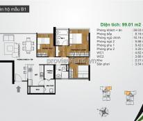Bán căn hộ cao cấp 2 phòng ngủ diện tích 99m2 dự The Ascent Quận 2 nhà đẹp đầy  đủ nội thất