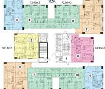 Cho thuê căn hộ Topaz City block b1, căn góc, 70m2, 2PN, lầu cao, nhà trống, giá chỉ 8.5tr/tháng