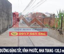 Bán đất cách biển 5 phút đi bộ đường Đặng Tất,Vĩnh Hải,Nha Trang