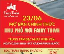 Bán gấp lô đất 108m2 tại Fairy Town, TP vĩnh Yên,giá từ 14tr/m2 sổ đỏ đầy đủ,tặng 20tr.O972397793