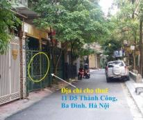 Cho thuê nhà 4 tầng tại Thành Công, Nguyên Hồng