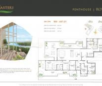 Bán penthouse Masteri quận 2, view sông, Thảo Điền, Q1, nhà thô, 13.4 tỷ. LH 0902 995 882