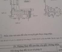 Bán nhà 1 lầu, 2PN, hẻm Lê Văn Lương, P. Tân Quy, Quận 7. DT: 4x8m, giá: 2.2 tỷ TL