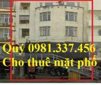 Cho thuê nhà MT Trung Kính - Vũ Phạm Hàm, 80m2, MT: 15m, 6 tầng, 80 tr/th. Quý mặt phố 0981337456